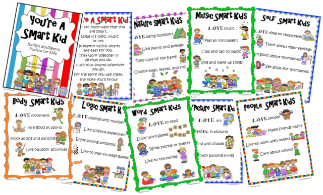 Free Multiple Intelligences Posters for Kids
