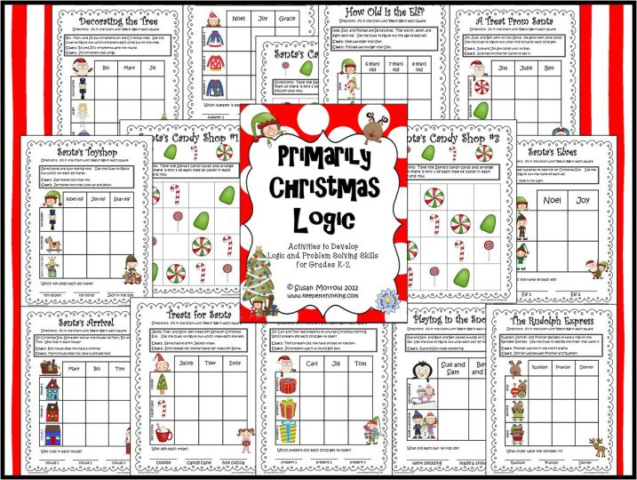 primarily christmas logic preview - Christmas Logic Puzzles