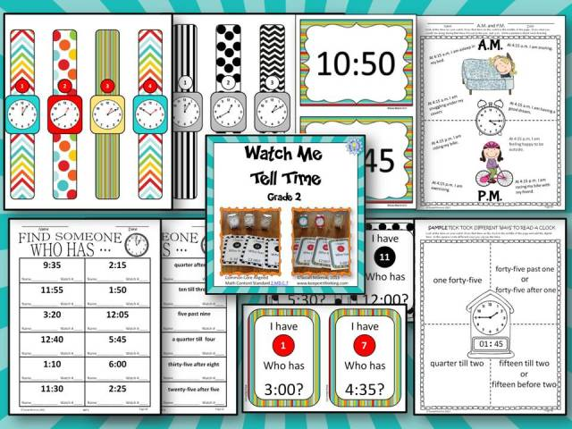 preview file for tpt watch me tell time