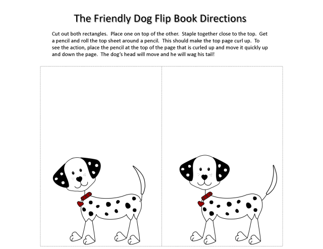 the friendly dog flip book directions