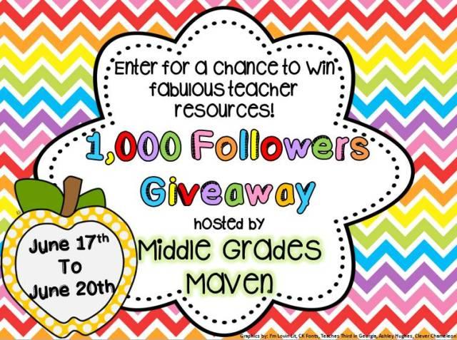 Giveaway Button middle grades maven