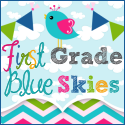 first grade blue skies button