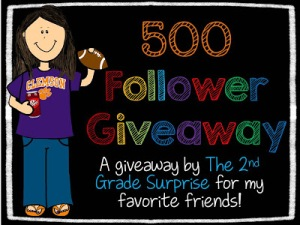 500 Follower Giveaway 2nd grade surprise