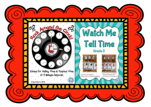 rock around the clock and watch me tell time framed