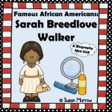 Sarah Breedlove Walker Biography Mini Pack