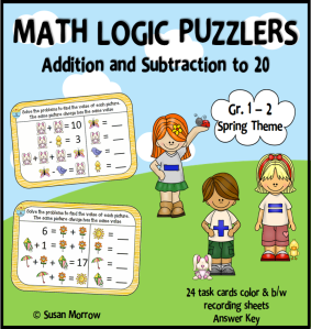 spring math logic cover